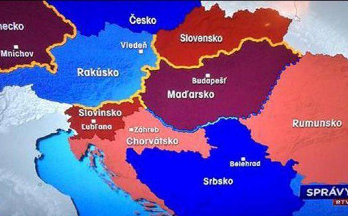slovacka mapa Lajčak o spornoj mapi: Slovačka državna televizija morat će se  slovacka mapa