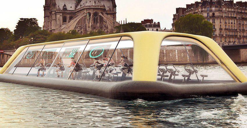 POKRETAT ĆE JE ELEKTRIČNA ENERGIJA NASTALA VJEŽBANJEM! Novi koncept: Pariska teretana će ploviti rijekom dok vježbate
