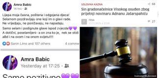 Foto: Facebook / Profil Amre BAbić na društvenim mrežama