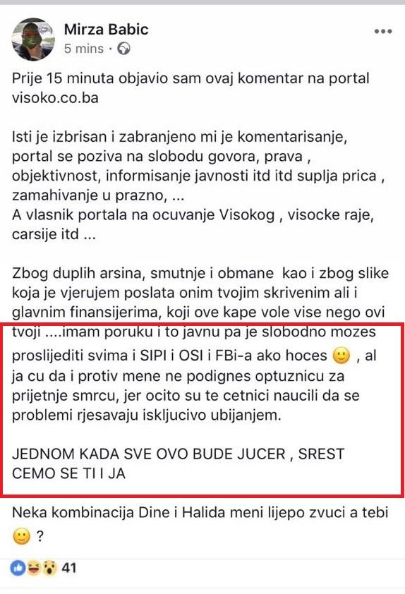 Foto: Facebook / Mirza Babić, sin Amre Babić