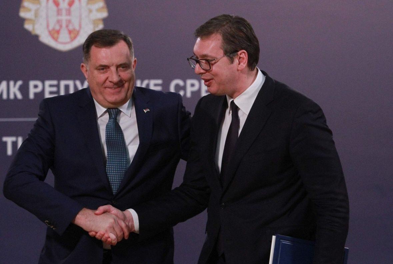 Milorad Dodik i Aleksandar Vučić / Foto: Twitter