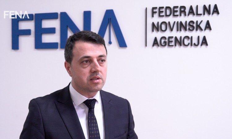 Premijer ZDK-a Mirza Ganić u posjeti Federalnoj novinskoj agenciji (FENA-i)