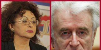 Sonja Karadžić i ratni zločinac Radovan Karadžić