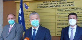 Fahrudin Radončić s članovima Vlade ZDK