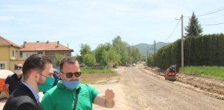 Ministar Isak obišao radove na rekonstrukciji ceste u Moštru kod Visokog