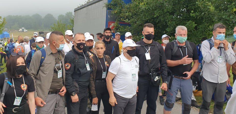 Kemal Mušinbegović na Maršu mira