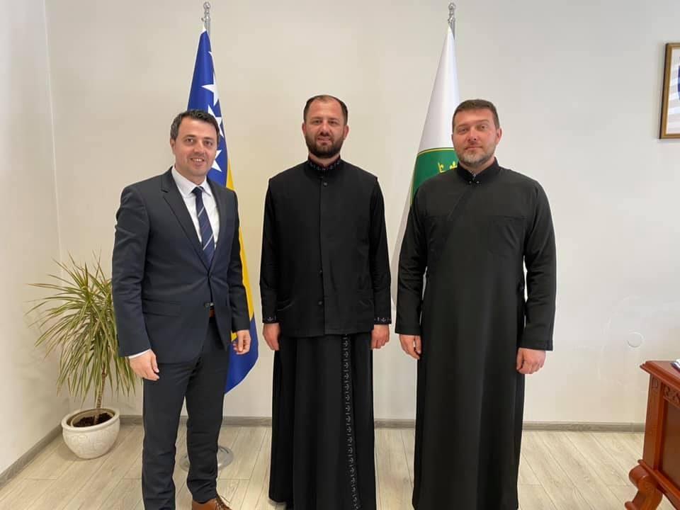 Mirza Ganić, protojerej Miljan Rađenović, jerej Darko Danilović