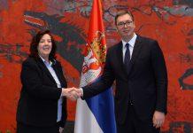 Ambasadorica Aida Smajić i Aleksandar Vučić